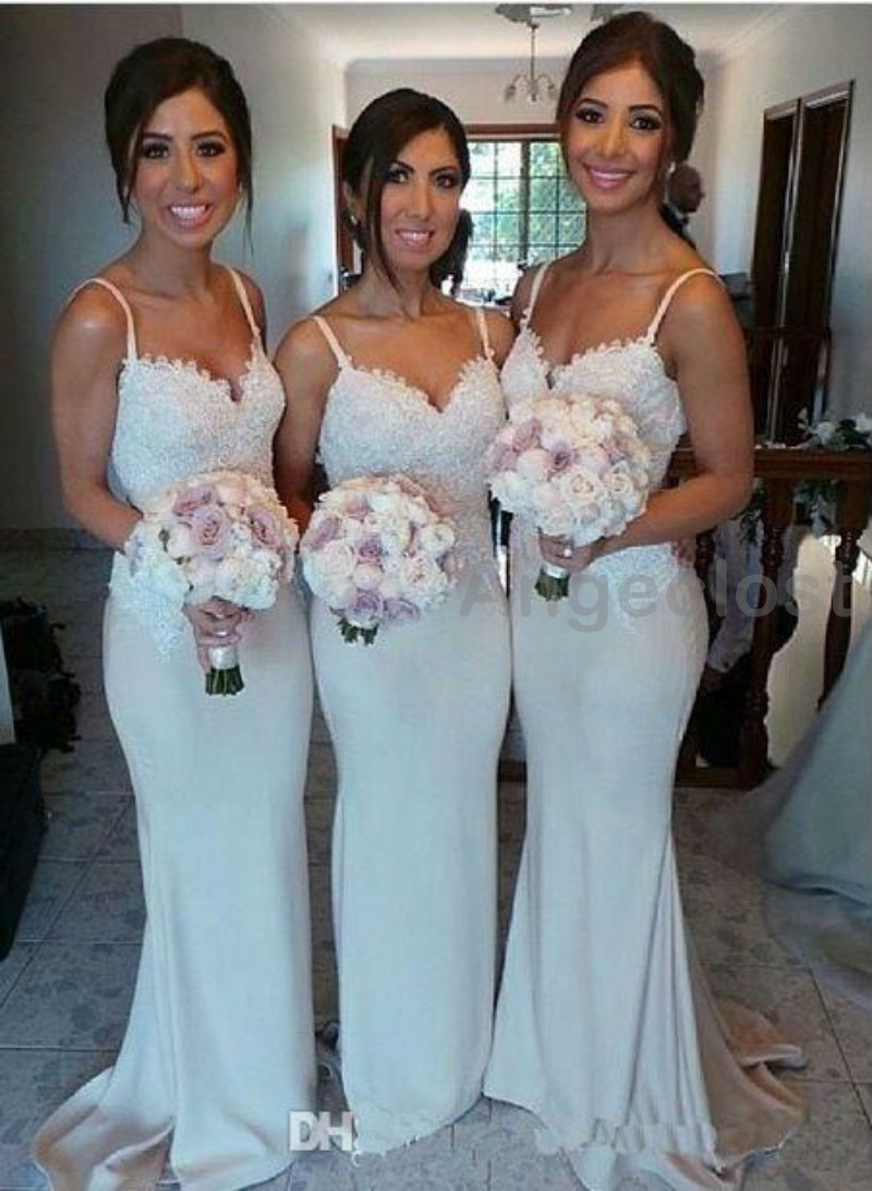 Attractive Champagne Bridesmaid Dresses Long Frieze - All Wedding ...