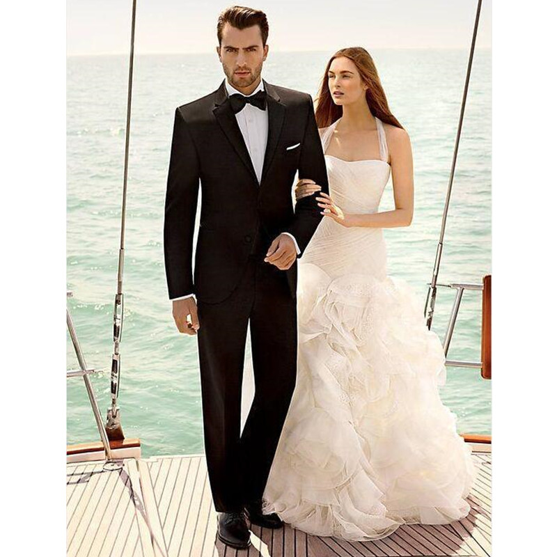 2017 Direct Selling Groom Tuxedos Bridegroom Two Button Wedding Suits For font b Men b font