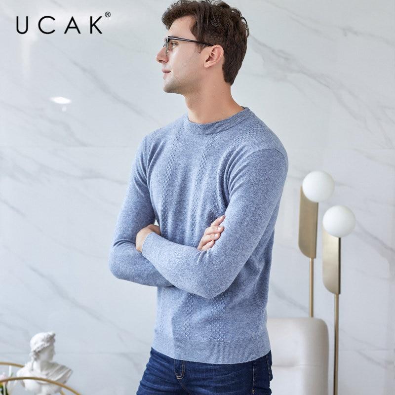 UCAK Brand Merino Wool Sweater Men Autumn Winter Mens Sweaters 2019 New Arrival Pull Homme Soft Warm Cashmere Pullover Men U3029
