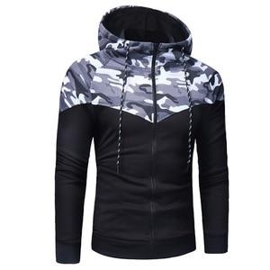 Image 4 - 2020 New Camouflage Printed Men Set Causal Patchwork Jacket Men 2Pcs Tracksuit Sportswear Hoodies Sweatshirt Pants Suit