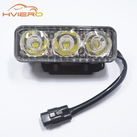 1pcs New Auto Durable Car Daytime Running Light 3LED DRL Daylight Super White DC 12V Head