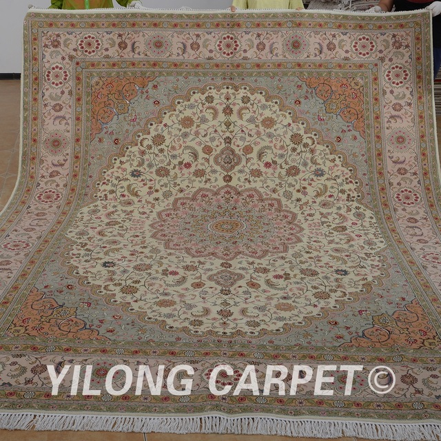 Aliexpress Com Buy Yilong 8 X10 Handmade Artificial Silk Carpets