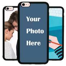For iPhone 6Plus 6SPlus Custom Personalized Make your Photo pattern images Hard Body Soft Side Phone Case Cover