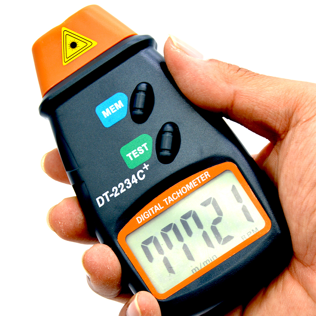 Non Contact Tach Tool Handheld Digital Laser Photo Tachometer Tester RPM Motors DC 9V 2.5RPM -99,999RPM