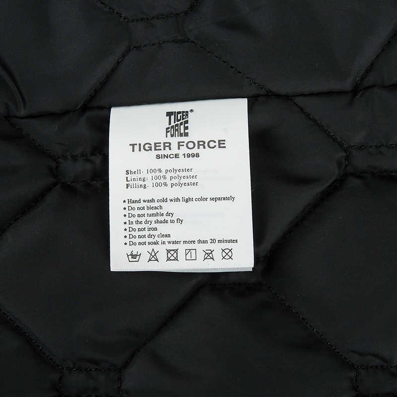 Tiger Kraft Business Casual Frühling Parkas Männer Dicke Jacke Männliche Mit Kapuze Oberbekleidung Kleidung Baumwolle Gefütterte Mantel Schwarz Plus größe