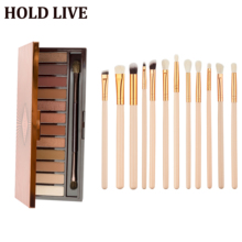 HOLD LIVE Brand Earth 12Color Shimmer Matte Eyeshadow Palette Makeup Kit Pigment Glitter Eye Shadow Nude Smoky Palette Cosmetics цена