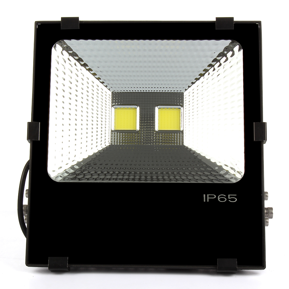 1pcs 100W 150W 200W Black Led Flood Light Warm/Cool White Led Floodlight Waterproof Outdoor lighting Garden Lamp Spotlight