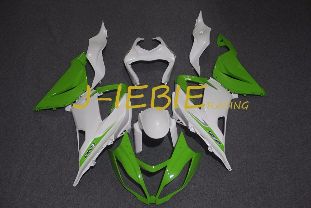 Green white Injection Fairing Body Work Frame Kit for Kawasaki NINJA ZX6R ZX6 ZX 6 R 2013 2014