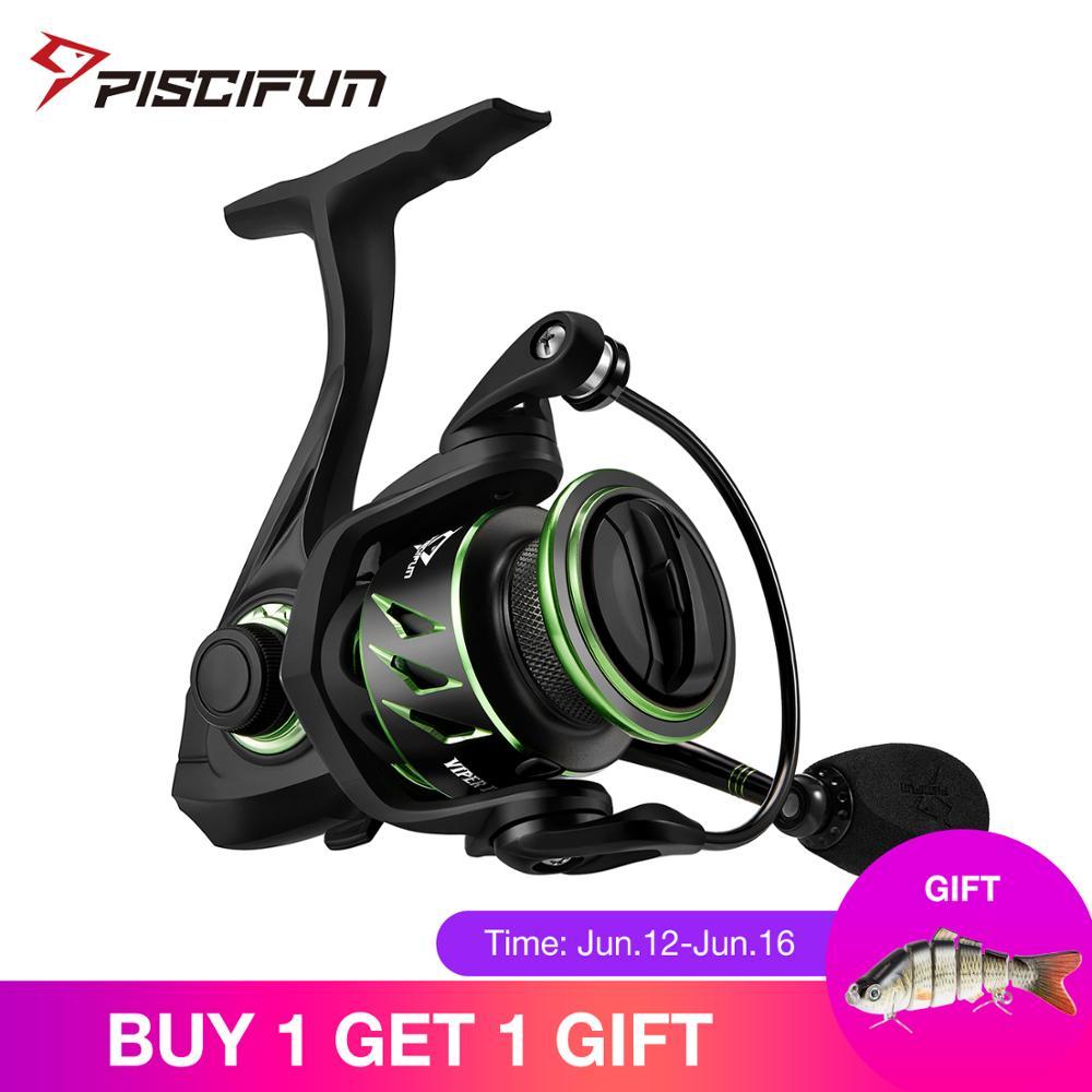 Piscifun Viper II Spinning Reel 6.2:1 High Gear Ratio 10+1 Bearings Fishing Reel 12kg Max Drag Ultra Light Spinning Fishing Reel