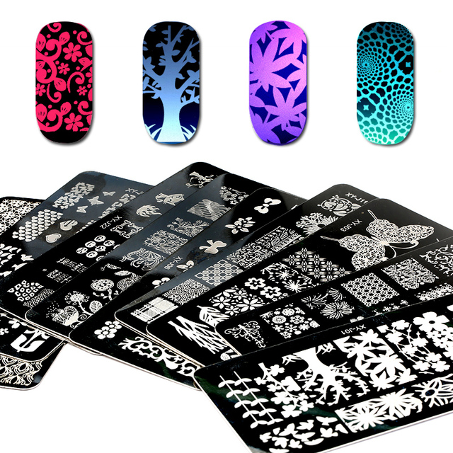 1pc Designs Available Nail Stamping Plates For Art New Year Christmas Snow