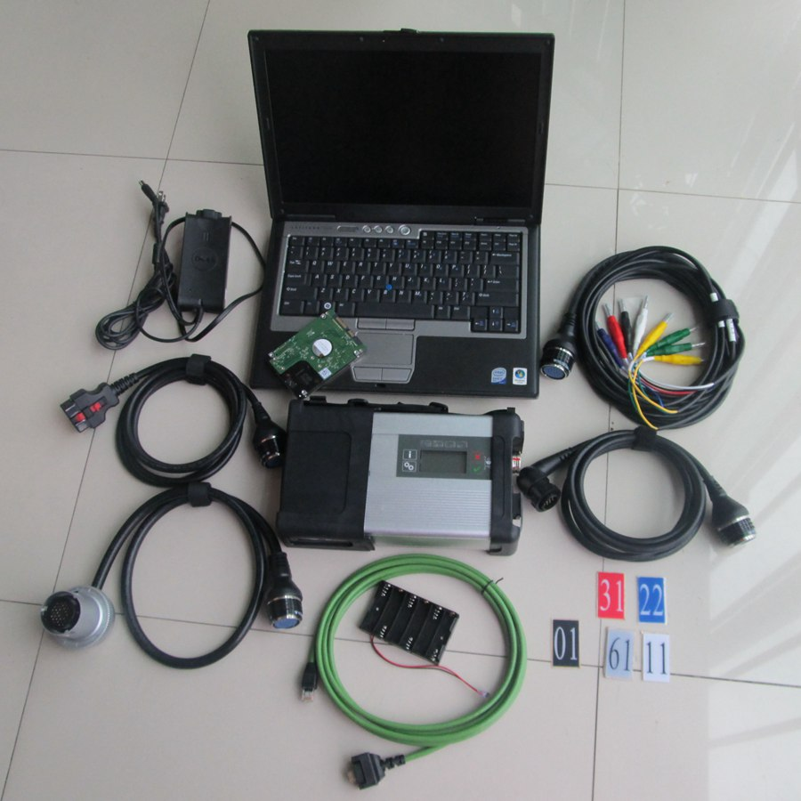 MB SD C5 Diagnosis + hdd Software 2016.12v engineer software + mb star c5 sd with laptop D630(2gb) diagnostic pc ready to work
