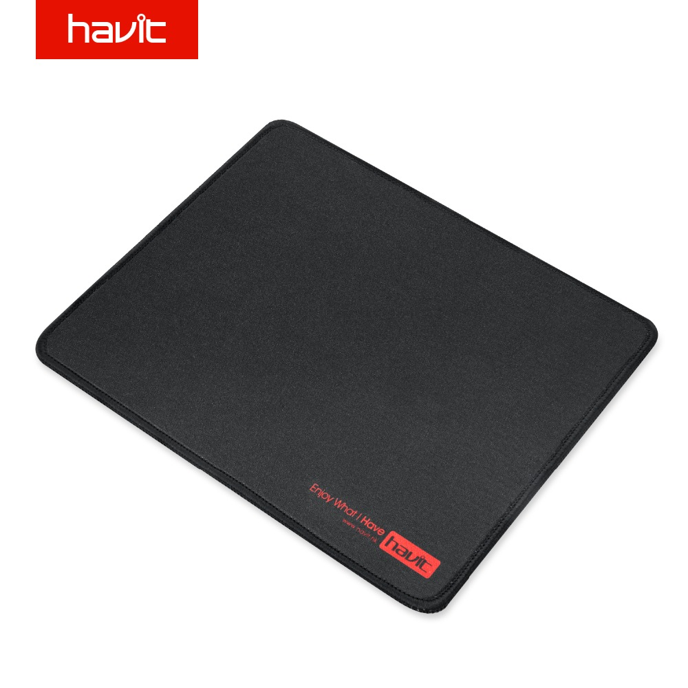 HAVIT ordinateur Gaming Pad Pad en caoutchouc noir surface imperméable Gamer Mousepad Mousepad Muismat pour Gaming 26 cm * 21 cm HV-MP813