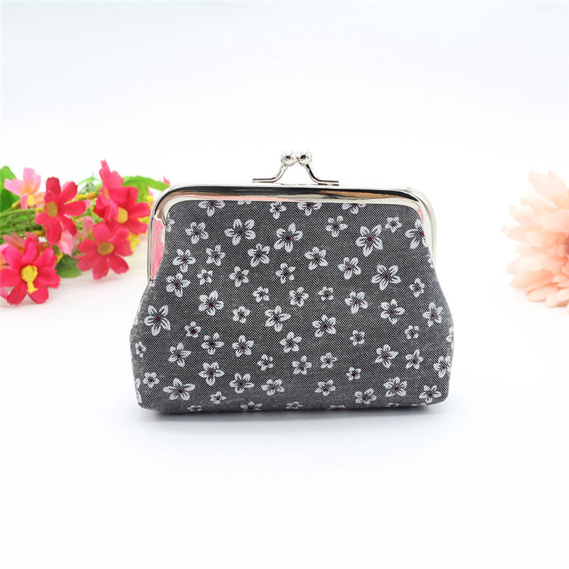 2016 Autumn Womens Retro Flowers coin wallet Card Holder Coin kawaii bag Purse Clutch pouch coin bag monederos para monedas gyd 2016 new silicone coin purse monederos pouch case change animal purse patterns o bag rectangle silicon bag gyd0006