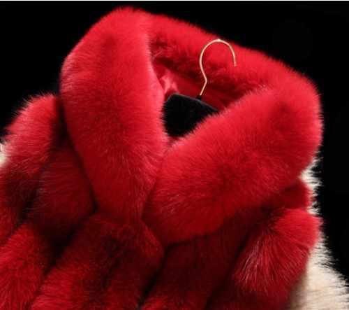 2019 delle Donne di Inverno Faux Cappotto di Pelliccia di Volpe Della Maglia Più Il Formato di Gusto Squisito Cappotto di Pelliccia Patchwork Con Cappuccio della Pelliccia Del Faux Gilet di Pelliccia cappotto Artificia AW166