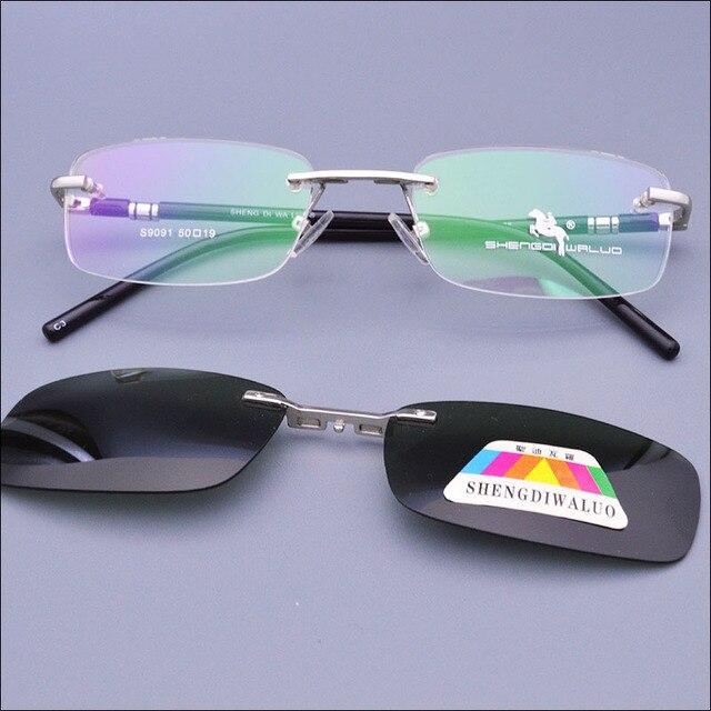 2015 Без Оправы Очки Функциональные Очки Очки Оптические Очки 1 ШТ. Магнитные Поляризованные Очки Клип Очки UV400