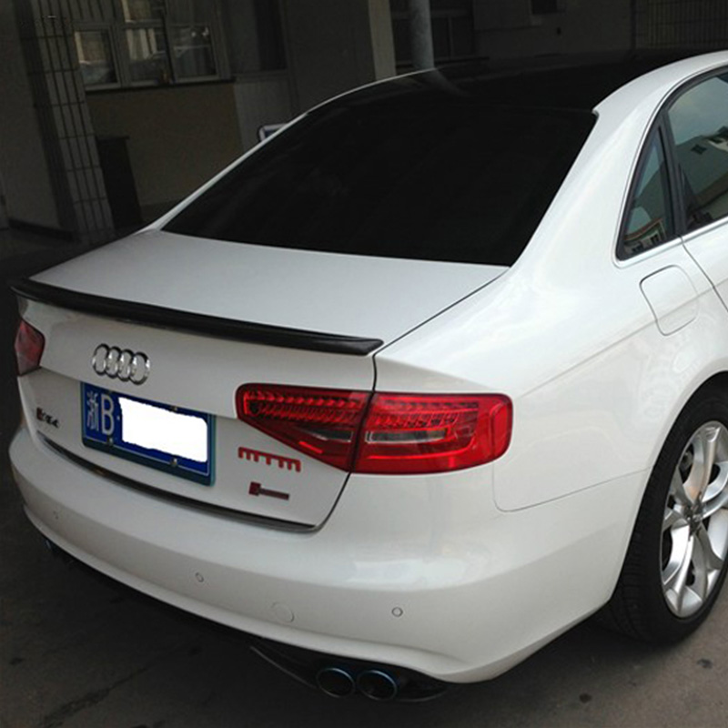 For Audi A4 B9 Modified S4 Style Carbon Fiber Rear Trunk Lip Spoiler Car Wing 2013 2014 2015 цены