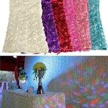 140*200 см атласная 3D Роза проходу свадебный Декор Ковер занавес
