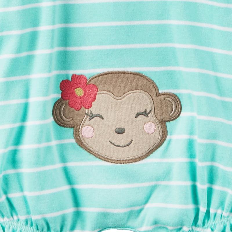 970f9136a Carter s 1pcs baby children kids Snap Up Cotton Romper spring monkey ...