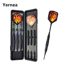 цена на Yernea New High-quality 3Pcs/set 18g Electronic Darts Soft Tip Darts Professional Competition Dart Metal Aluminum Shaft