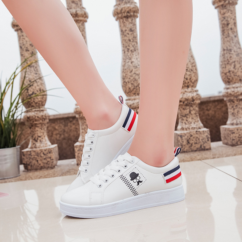 2018 Women Canvas Vulcanize Shoes Breathable Casual Women Sneakers Summer Lace-up Ladies Fashion Solid Flats Footwear KBT990