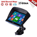 "XGODY 718 7 inch Car Truck GPS Navigation 256 RAM+8GB ROM 7"" Navigator SAT NAV SYSTEM FM/MP3 2016 Europe Free Maps with Sunshade"