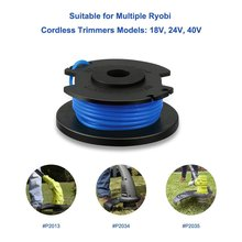 "4/6 Rolls 0.065"" Nylone String Trimmer Line Lawn Mower Grass Trimmer Head Weeding Brush Cutter Parts Replacement Spool for Ryobi"