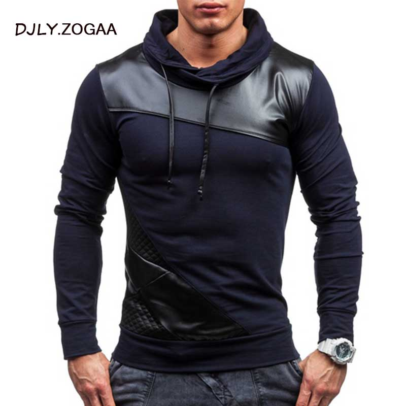 ZOGAA 2019 Geek New Men's Polo Shirt Grid Color Matching Long Sleeve Slim Top