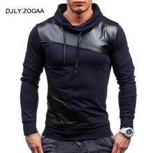 ZOGAA 2019 Geek New Mens Polo Shirt Grid Color Matching Long Sleeve Slim Top