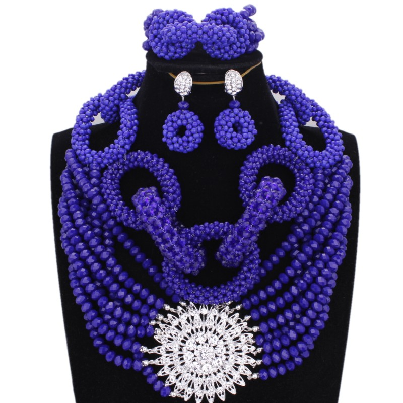 Nouveau Véritable Corail Perles Femmes Collier africaine Nigerian Women Wedding Jewelry Set