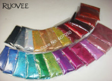"""Blandade 24 Holografiska Laserfärger (0.1mm) 1/256 """"Skinnande Nail Glitter Dammpulver för Nail Art DIY Dekor & Glitter Hantverk"""