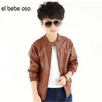 El Bebe Oso New Brand Fashion Children S PU Leather Motorcycle Jacket Autumn Winter Kids Outwear