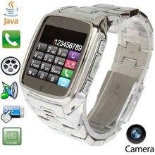 Smartwatch Telefon JAVA TW810 Edelstahl Smart Bluetooth Uhr Mobie Armbanduhr mit HD DV Aufnahme FM Radio