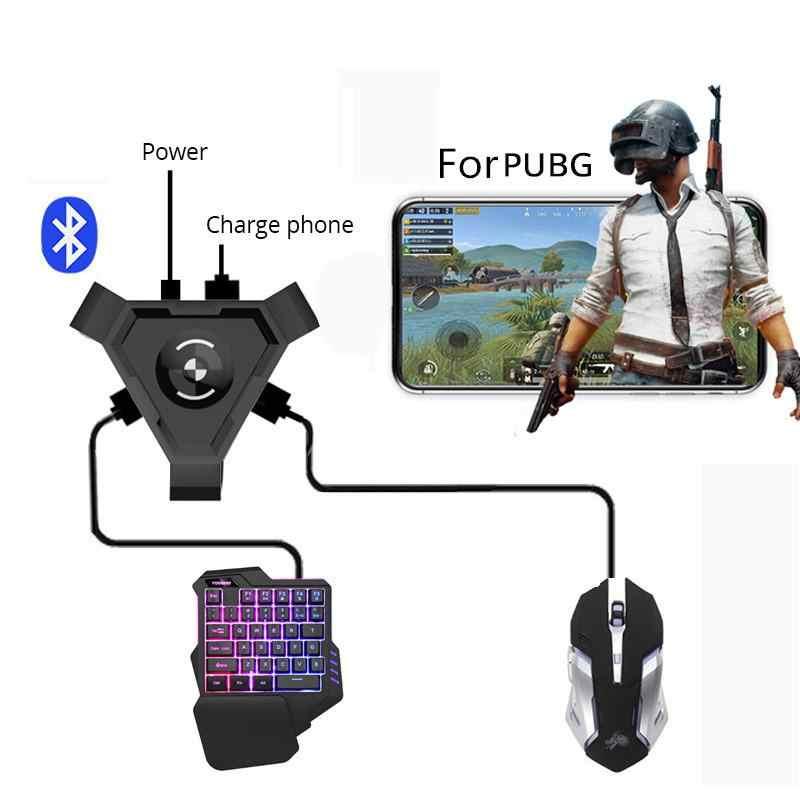 BEESCLOVER Bluetooth adaptörü PUBG mobil Gamepad denetleyicisi oyun klavye fare dönüştürücü Android telefon PC r25
