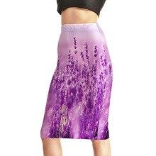 Hot Products Women's Sexy Lavender Purple Gradient 3D Print Skirts High Waist Package Hip Skirt S M L XL XXL XXXL XXXXL