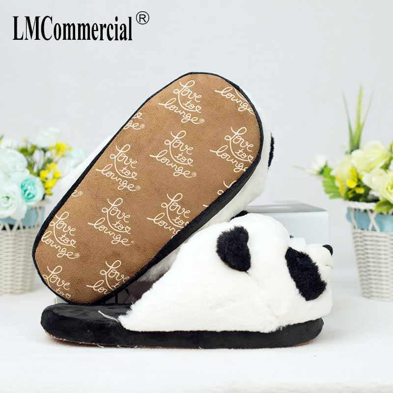 Cotone Speciale Peluche Coperta Morbida Panda Scarpe Gli Uomini E Le Donne Pantofole Custom Pantofola Cottoon Pantofola Pavimento Amanti Scarpe Inverno Caldo