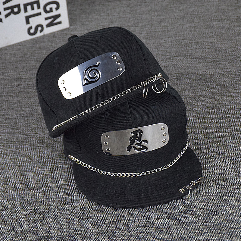 Detail Feedback Questions about Summer Women Baseball Cap punk iron ring  Flat Hiphop Mens Caps And Hats Naruto cartoon hat Casquette Homme Women s Cap  Topi ... 9340ad13b0