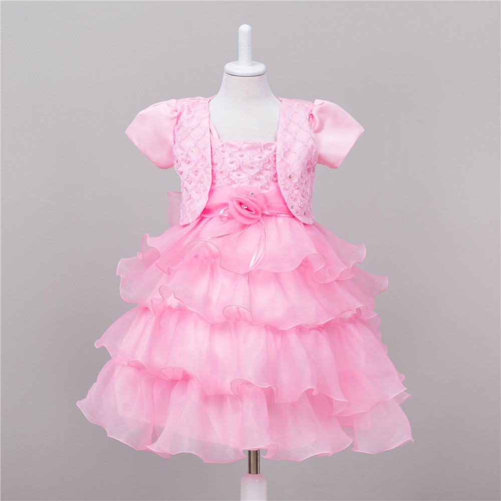 shawl dress clothing sets kids girl party dresses suits lace puff dress summer birthday bowknot princess wedding ball gown girls 2017 new flower lace girls dress princess dresses solid wedding dress girl clothing sleeveless ball gown girl costume kids ds003