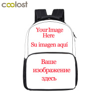 Customize Your Name Logo Image Backpack For Teenage Men Women Travel Bags Children School Bags Backpack Kids Book Bag Gift Bag