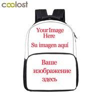 Passen Sie Ihre Name Logo Bild Rucksack Für Teenager Männer Frauen Reisetaschen Kinder Schultaschen Rucksack Kinder Buch Tasche Geschenk tasche