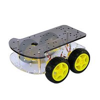 Smart car chassis 4WD four wheel drive smart car withe double layer for arduino