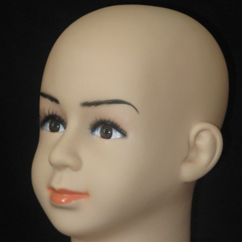 Displaying cap mannequin head Dummy Baby Boy Girl Head Plastic Lovely Children Mannequin Head For Hat and Wig (3)