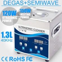Очиститель Ultrasonido 120 Вт 1.3л нагреватель для ванны Дега с переменной волной ультразвуковой ювелирной посуды кольцо пули печатающая головка инжектор