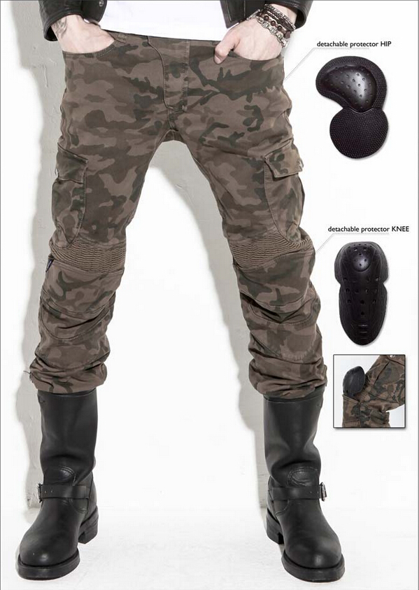 2016 The newest UglyBROS motorpool camo ubs07 jeans camouflage leisure riding a motorcycle pants jeans man