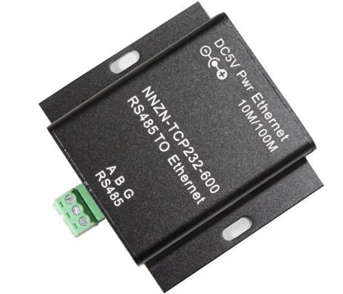 DC 5V NNZN-TCP232-600 RS485 Serial to Ethernet Device Server MODBUS RTU TCP New