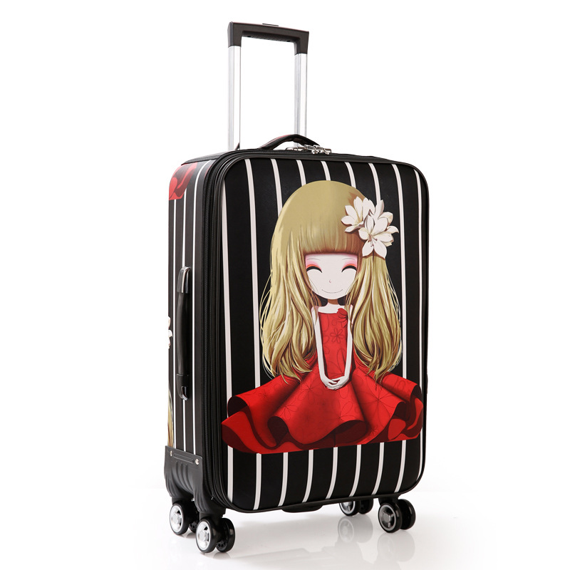 PU Trolley Wheeled Suitcase Business Large Travel Bag 2024 Luggage Bag Men's / Women's Canvas Luggage Rolling Luggage suitcase vintage suitcase 20 26 pu leather travel suitcase scratch resistant rolling luggage bags suitcase with tsa lock