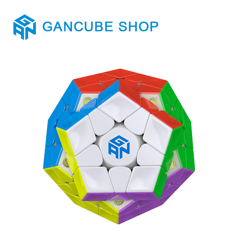 GAN 3x3x3 Magnetic Megaminxeds Magic Speed Cube Stickerless Professional Magnets 12 Sides Puzzle Cubes Educational Toys