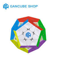 GAN 3x3x3 Magnetic Megaminxeds Magic Speed Cube Stickerless Professional Magnets 12 Sides Puzzle Cubes Educational Toys For Chil