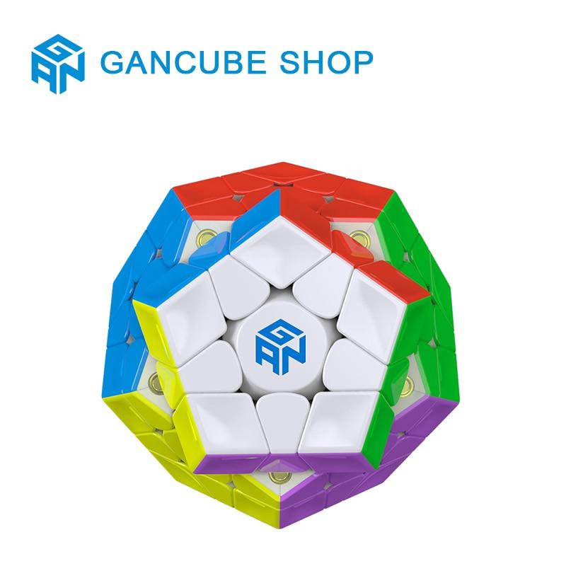 Oyuncaklar ve Hobi Ürünleri'ten Sihirli Küpler'de GAN 3x3x3 Manyetik Megaminxeds Sihirli Hız Küp Stickerless Profesyonel Mıknatıslar 12 Taraf Bulmaca Küpleri Eğitici Oyuncaklar için Chil'da  Grup 1