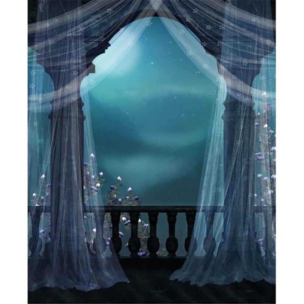 Vintage Balcony Wedding Photo Background Printed Curtain ...