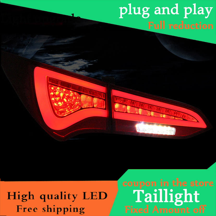 Car Styling LED Tail Lamp For Hyundai Santa Fe IX45 2013 2015 Taillights Rear Light DRL